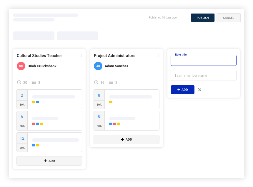 Add roles to your teams