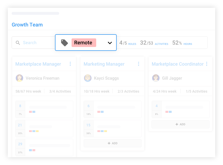 Filter for team insights